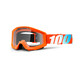 100% Strata Anti Fog Clear Lens orange/clear